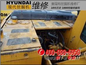 现代R210W-5挖掘机热机整车动作慢